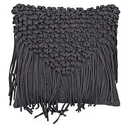 French Connection® Mateo Square Throw Pillow in Charcoal