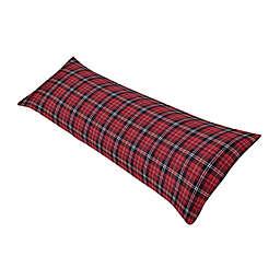 Sweet Jojo Designs® Rustic Patch Plaid Body Pillowcase in Red/Black