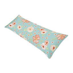 Sweet Jojo Designs® Watercolor Floral Body Pillowcase in Turquoise
