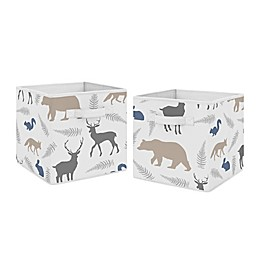 Sweet Jojo Designs® Woodland Animal Multicolor Fabric Storage Bins (Set of 2)