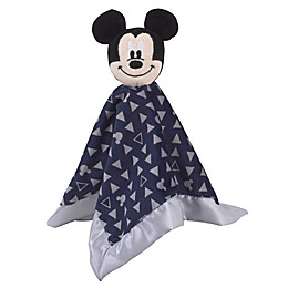 Disney® Mickey Mouse Lovey Security Blanket in Navy