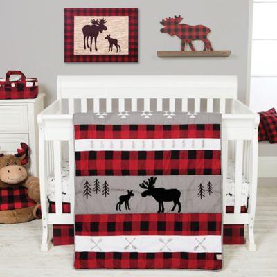 Trend Lab® Lumberjack Moose 3 Piece Crib Bedding Set by Trend Lab