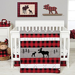 Trend Lab® Lumberjack Moose 3-Piece Crib Bedding Set