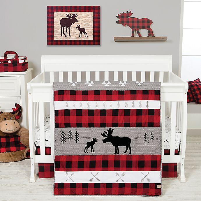 Alternate image 1 for Trend Lab® Lumberjack Moose 3-Piece Crib Bedding Set