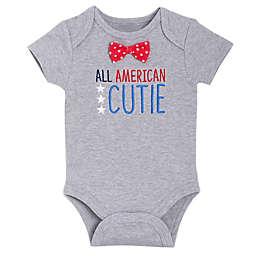 """BabyGEAR™ """"All American Cutie"""" Short Sleeve Bodysuit in Red"""