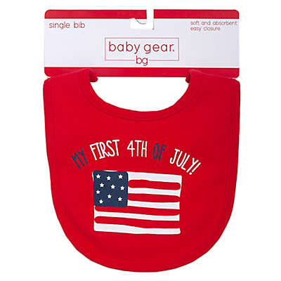 "babyGEAR® ""My First 4th"" Bib in Red"