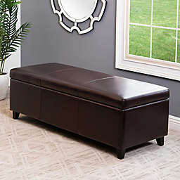 Abbyson Living® Frankfurt Storage Bench in Brown