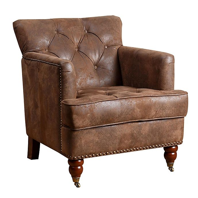 Alternate image 1 for Abbyson Living® Garrison Club Chair in Antique Brown