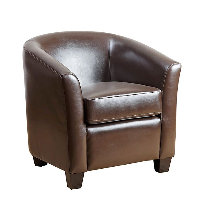 Wondrous Abbyson Living Montecito Leather Loveseat In Brown Gmtry Best Dining Table And Chair Ideas Images Gmtryco