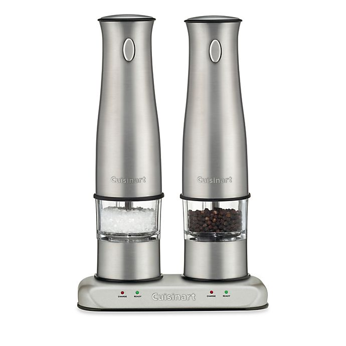 Alternate image 1 for Cuisinart® Rechargeable Electric Salt and Pepper Mill Set