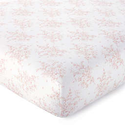 Levtex Baby® Heritage Organic Cotton Floral Fitted Crib Sheet in Blush