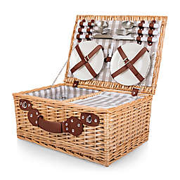 Picnic Time® 22-Piece Insulated Picnic Basket for 4