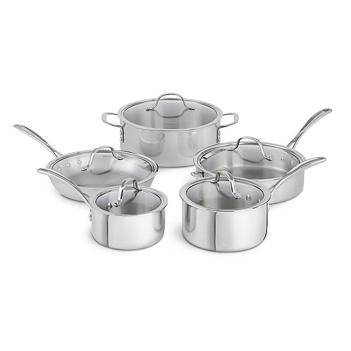 Alternate image 1 for Calphalon® Tri-Ply Stainless Steel 10-Piece Cookware Set