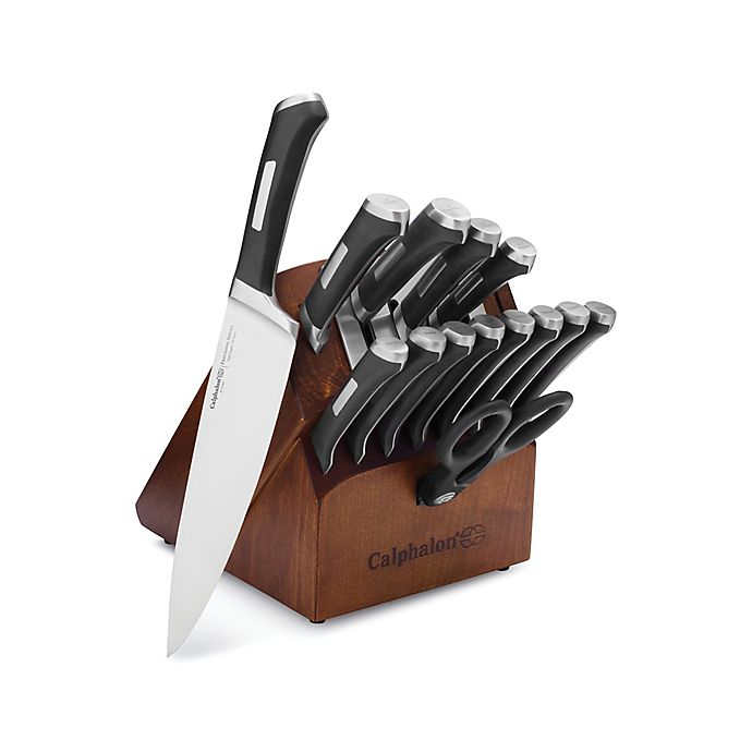 Alternate image 1 for Calphalon® Precision Self-Sharpening 15-Piece Cutlery Set with SharpIN™ Technology
