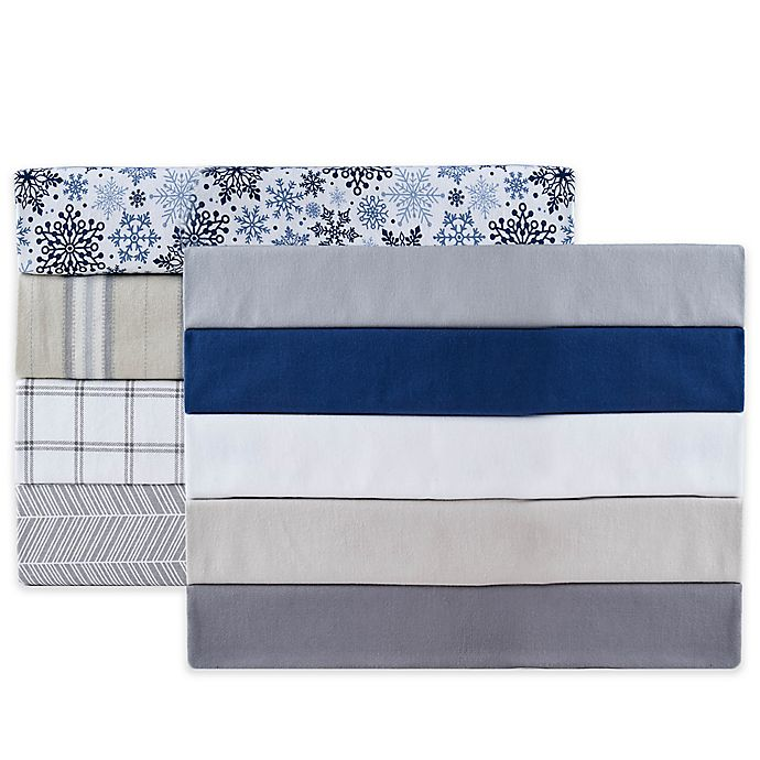 Alternate image 1 for Therapedic® 100% Ring Spun Cotton Flannel Sheet Collection