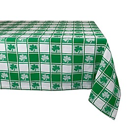 Design Imports Shamrock Woven Check Table Linen Collection