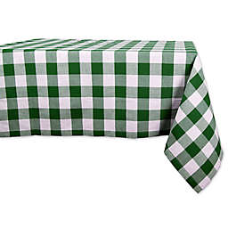 Design Imports Shamrock Buffalo Check Tablecloth in Green