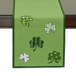 Design Imports Lucky Day 54-Inch Table Runner in Green