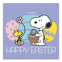 "Peanuts® ""Happy Easter"" 18-Inch Square Wrapped Canvas Wall Art"