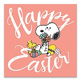 "Peanuts® ""Happy Easter"" 14-Inch Square Wood Wall Art"