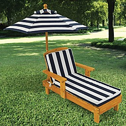 KidKraft® Chaise with Umbrella in Honey/Navy/White