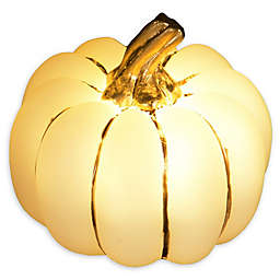 3-Inch LED-Illuminated Pumpkin in Gold