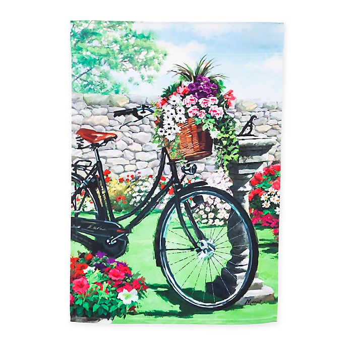 Alternate image 1 for Evergreen™ Garden Bicycle 18-Inch x 12.5-Inch Decorative Flag