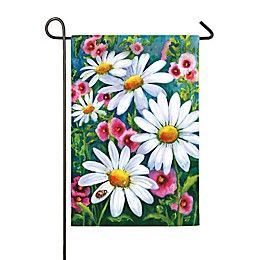 Evergreen™ Big Daisies 18-Inch x 12.5-Inch Satin Flag