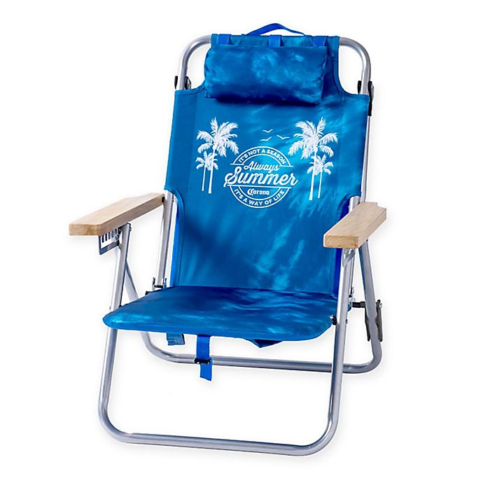 Terrific Corona Always Summer Beach Chair In Blue Bed Bath Beyond Frankydiablos Diy Chair Ideas Frankydiabloscom