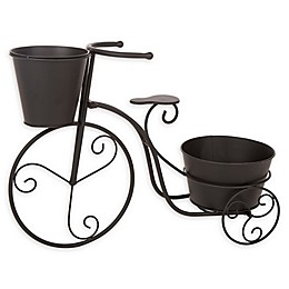 Glitzhome Bicycle Planter in Black