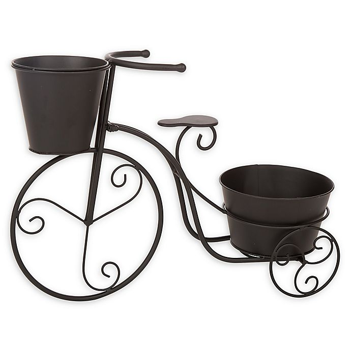 Alternate image 1 for Glitzhome Bicycle Planter in Black