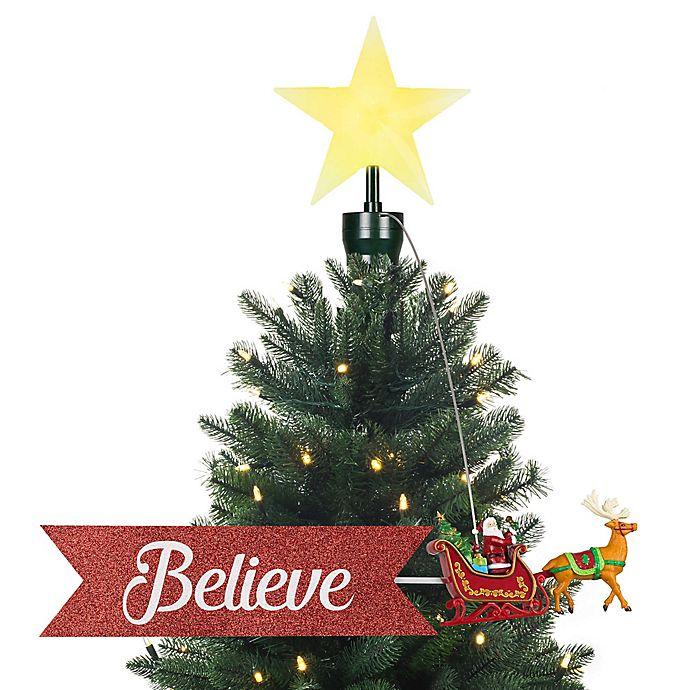Alternate image 1 for Mr. Christmas® Santa Sleigh Animated Tree Topper