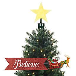 Mr. Christmas® Santa Sleigh Animated Tree Topper