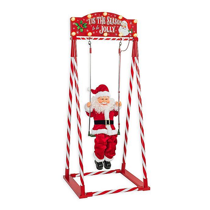 Alternate image 1 for Mr. Christmas® Animated Swinging Santa