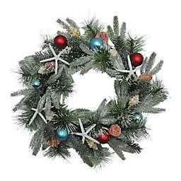 21-Inch Coastal Christmas Wreath