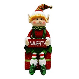 Winter Wonderland 15-Inch Naughty Sitting Elf