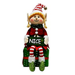 Winter Wonderland 15-Inch Nice Sitting Elf