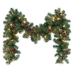 Outdoor Christmas Garland With Lights Bed Bath Beyond
