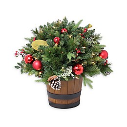 Pre-Lit Cashmere Artificial Pine Potted Porch Plant