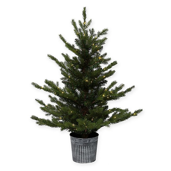 Alternate image 1 for Bee & Willow™ Home 3-Foot Pre-Lit LED Battery Operated Potted Artificial Christmas Tree