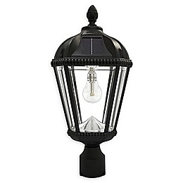 Gama Sonic Post mount Indoor/Outdoor Integrated LED Post Lantern