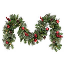 Pre-Lit Cashmere Pine Garland (Set of 2)