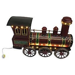 19-Inch Pre-Lit Metal Christmas Train Decoration