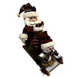 18-Inch Santa, Reindeer, Snowman Sleigh Decoration