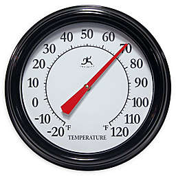 Infinity Instruments Executive Indoor/Outdoor Wall Thermometer in Black