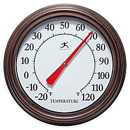 Infinity Instruments Arbol Indoor/Outdoor Wall Thermometer in Brown
