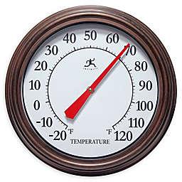 Infinity Instruments Arbol Indoor/Outdoor Wall Thermometer in Brown