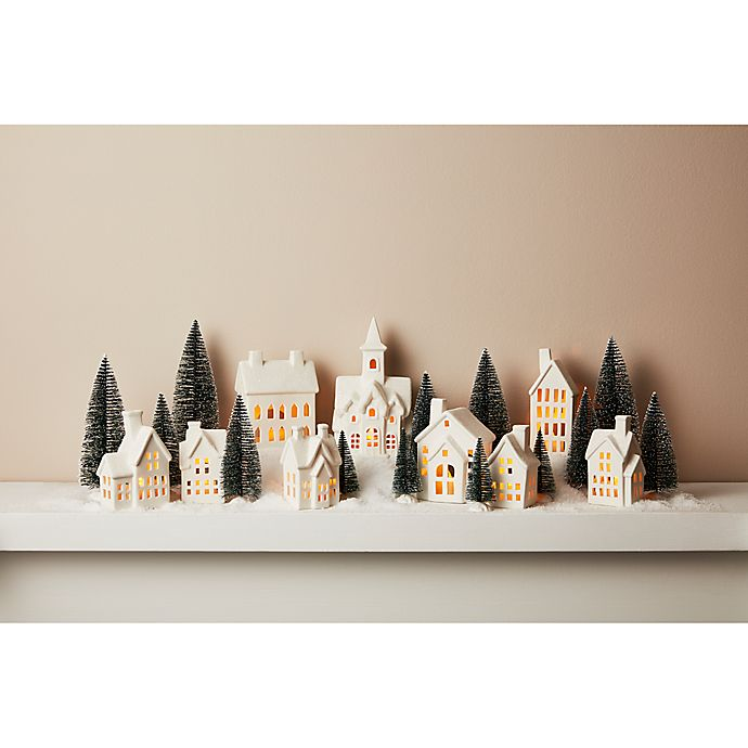 Alternate image 1 for 31-Piece Pre-Lit Porcelain Village in White