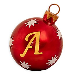 9-Inch Pre-Lit Monogram Letter Christmas Ball Ornament