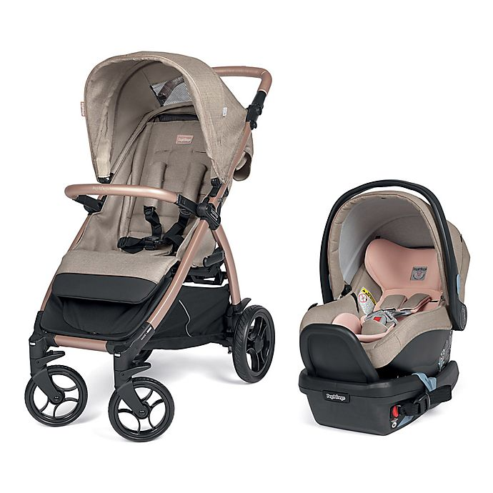 Alternate image 1 for Peg Perego Booklet 50 Travel System in Mon Amour/Rose Gold